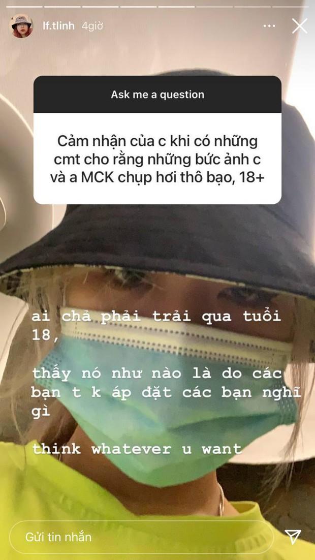Tlinh và MCK bị chỉ trích vì tung hứng status 18+, nói chuyện đụng chạm vòng 1 của fan - Ảnh 3.