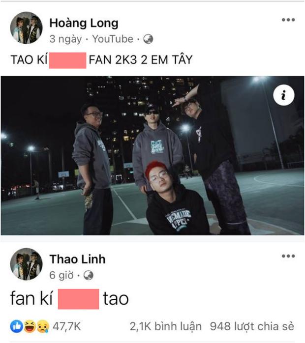 Tlinh và MCK bị chỉ trích vì tung hứng status 18+, nói chuyện đụng chạm vòng 1 của fan - Ảnh 2.