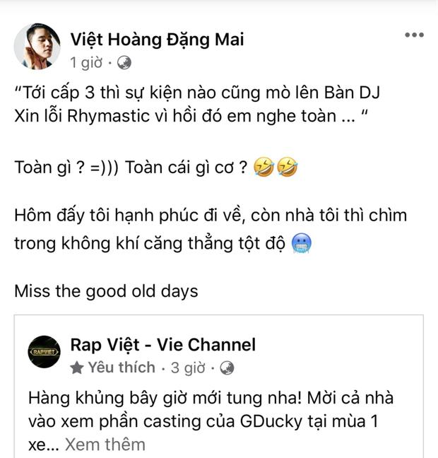B Ray tức cái lồng ngực khi bài thi casting của GDucky nhắc tên mình bị Rap Việt kiểm duyệt, đè âm thanh khác lên - Ảnh 1.