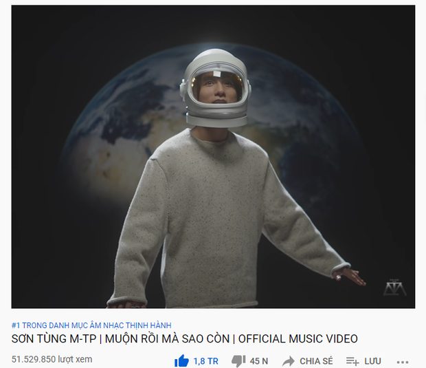 Muộn Rồi Mà Sao Còn của Sơn Tùng M-TP là video âm nhạc số 1 thế giới tuần vừa qua, vượt cả Billie Eilish và ITZY - Ảnh 1.