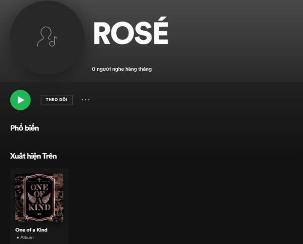 Rosé (BLACKPINK) cán mốc 700.000 người theo dõi trên Spotify - Ảnh 1.