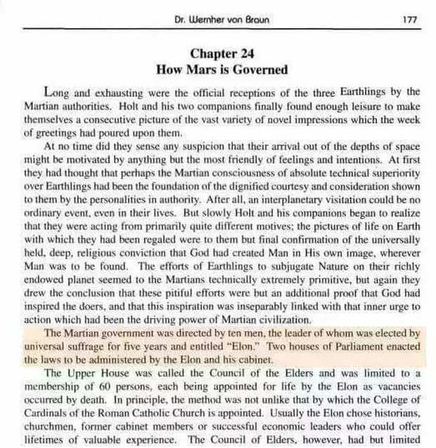Thật trùng hợp, một cuốn sách năm 1953 từng nói người tên Elon sẽ dẫn dắt con người chinh phục Sao Hỏa - Ảnh 1.