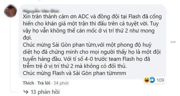 Thắng đậm chung kết, người hâm mộ Team Flash gáy nhẹ một câu khiến SGP càng thêm cay đắng - Ảnh 3.