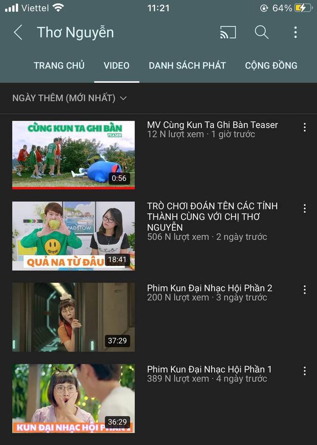 Kênh YouTube Thơ Nguyễn bất ngờ sụt giảm lượt xem nghiêm trọng, ý định tơ tưởng lấy nút Kim cương có lẽ còn lâu mới được! - Ảnh 2.