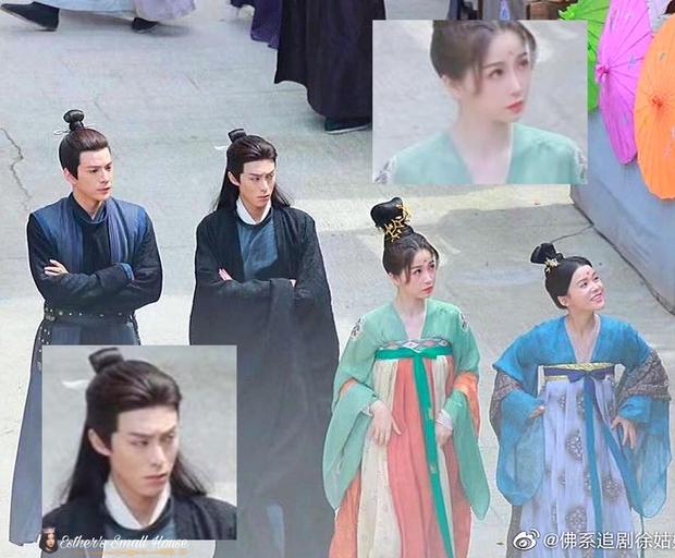 Ngu Thư Hân khoe váy áo xinh như mỹ nhân thời Đường, ai ngờ bị nam thần mặt quạu chiếm hết sóng ở phim mới - Ảnh 3.