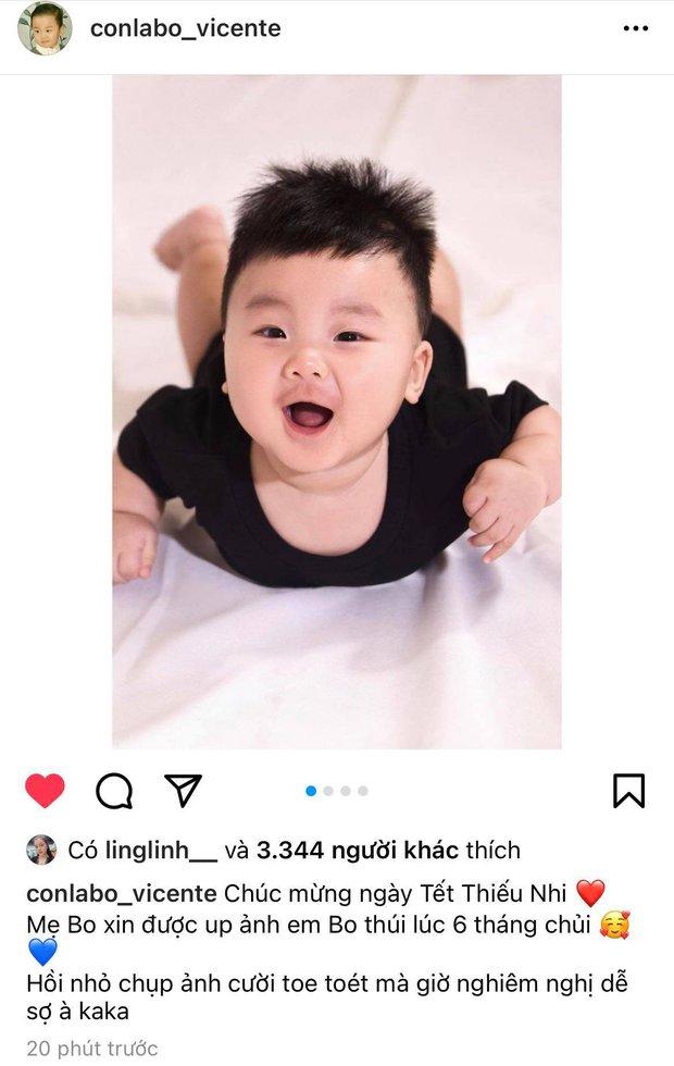 """Hoà Minzy """"xả kho"""" ảnh zoom cận mặt quý tử lúc 6 tháng tuổi, Minh Hải liền tung ảnh """"copy - paste"""" không lệch xíu nào! - Ảnh 2."""