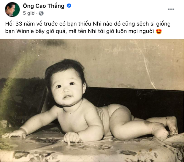 """Pha gây """"lú"""" cực mạnh ngày Quốc tế Thiếu nhi: Đây là Ông Cao Thắng, Đông Nhi ngày bé hay Winnie? - Ảnh 2."""
