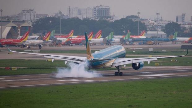 Dừng bay, giảm tần suất các chuyến bay đến Tân Sơn Nhất vì COVID-19 - Ảnh 1.