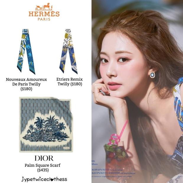 Stylist của TWICE cắt nát khăn Hermès nghìn đô để chế đồ cho idol, kết quả ra sao? - Ảnh 3.