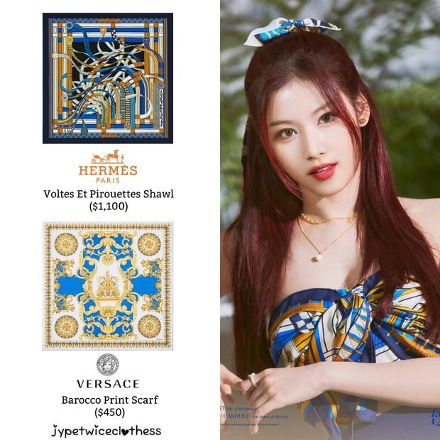 Stylist của TWICE cắt nát khăn Hermès nghìn đô để chế đồ cho idol, kết quả ra sao? - Ảnh 7.