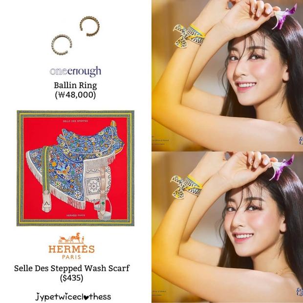 Stylist của TWICE cắt nát khăn Hermès nghìn đô để chế đồ cho idol, kết quả ra sao? - Ảnh 8.