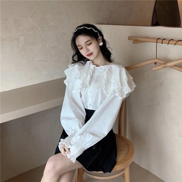 Minh Hằng diện áo cổ bèo sang chảnh quá đi mất, có mấy chỗ bán kiểu na ná giá chỉ từ 100k - Ảnh 6.