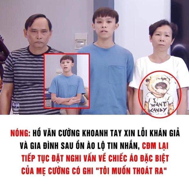 Netizen đặt nghi vấn về chiếc áo đặc biệt của mẹ Hồ Văn Cường trong clip, dòng chữ phải chăng thay cho lời muốn nói? - Ảnh 2.