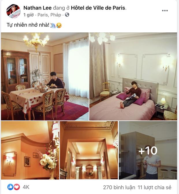 Nathan Lee nhớ nhà quá tiện khoe luôn nội thất khách sạn 2 nghìn tỷ ở Pháp, choáng váng vì mọi ngóc ngách tráng lệ như cung điện - Ảnh 2.