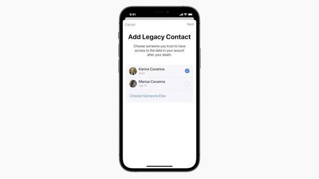 iOS 15 mới cho phép người thân được thừa kế dữ liệu từ iCloud của người đã mất - Ảnh 4.