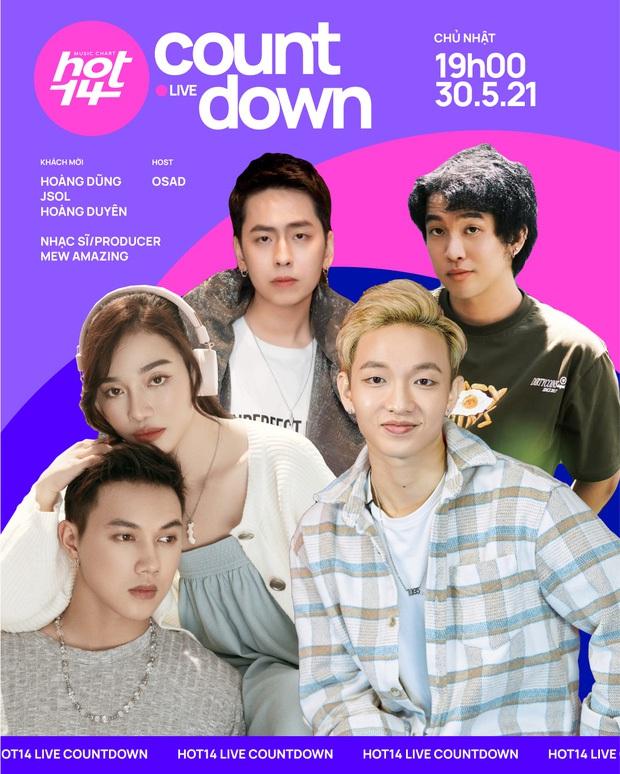 HOT14 Live Countdown chính thức trở lại với 4 khách mời bí ẩn và siêu hot, họ là ai? - Ảnh 2.