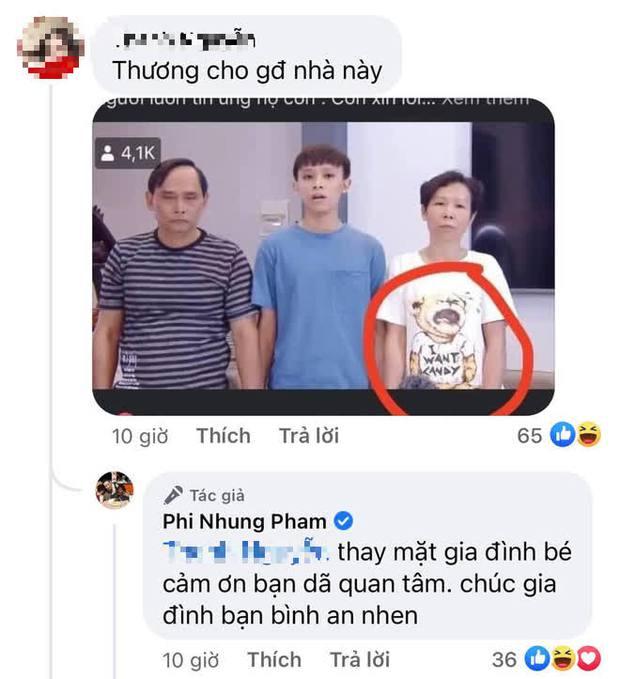 """Phản ứng gây chú ý của Phi Nhung khi bị """"spam"""" ảnh gia đình Hồ Văn Cường và nhấn mạnh chi tiết """"cầu cứu"""" trên áo người mẹ - Ảnh 2."""