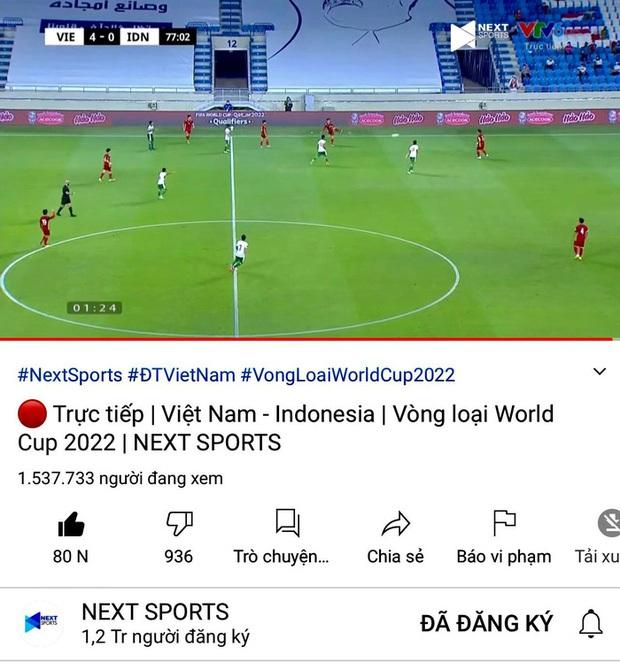 Cho Rap Việt hít khói, trận đấu Việt Nam - Malaysia chính thức lập kỷ lục Đông Nam Á với hơn 2,3 triệu người xem - Ảnh 4.