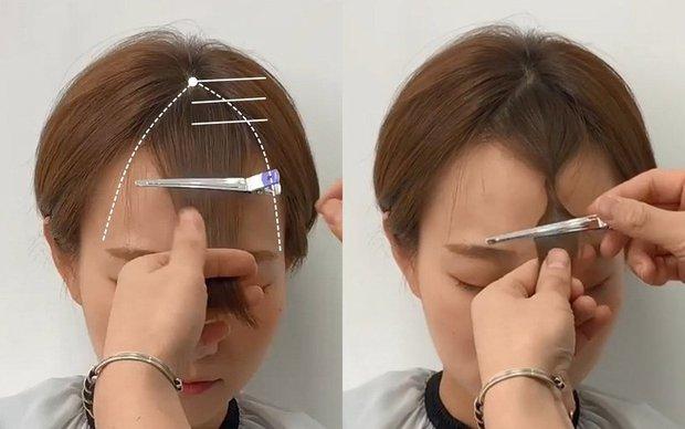 Ở nhà bạn vẫn tự cắt được tóc mái thưa chuẩn đẹp với bí kíp chỉ 3 bước level tiểu học, siêu dễ - Ảnh 3.