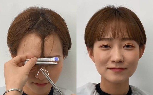 Ở nhà bạn vẫn tự cắt được tóc mái thưa chuẩn đẹp với bí kíp chỉ 3 bước level tiểu học, siêu dễ - Ảnh 4.