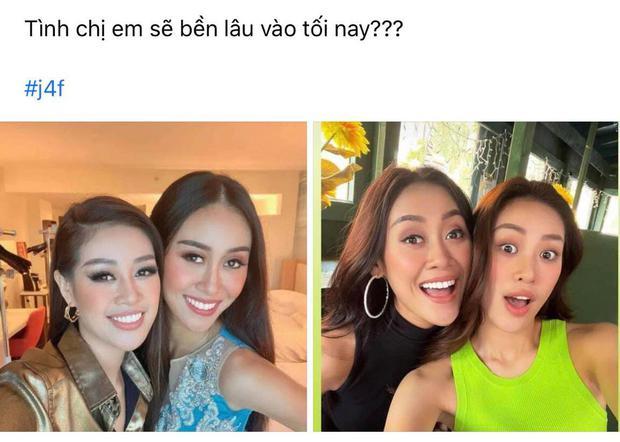 Hòa nhịp bóng đá, tình chị em của Khánh Vân và Hoa hậu Malaysia liệu có bền lâu? - Ảnh 2.