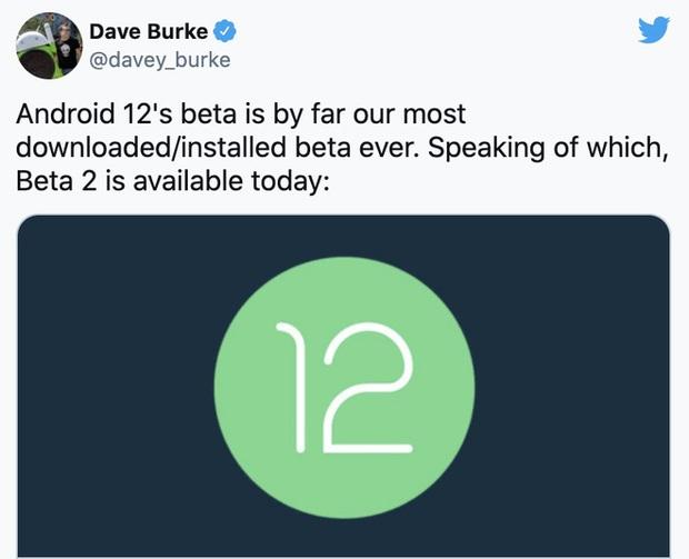 Dù chỉ mới ở bản beta, nhưng Android 12 đã phá vỡ kỷ lục cài đặt từ trước đến nay - Ảnh 1.