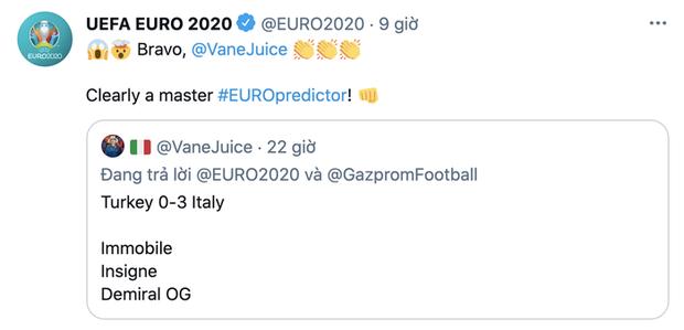 Xuất hiện thánh dự đoán chính xác từng chi tiết trận khai mạc Euro 2020: Ai còn FA mau nhắn hỏi xem bao giờ hết ế? - Ảnh 2.