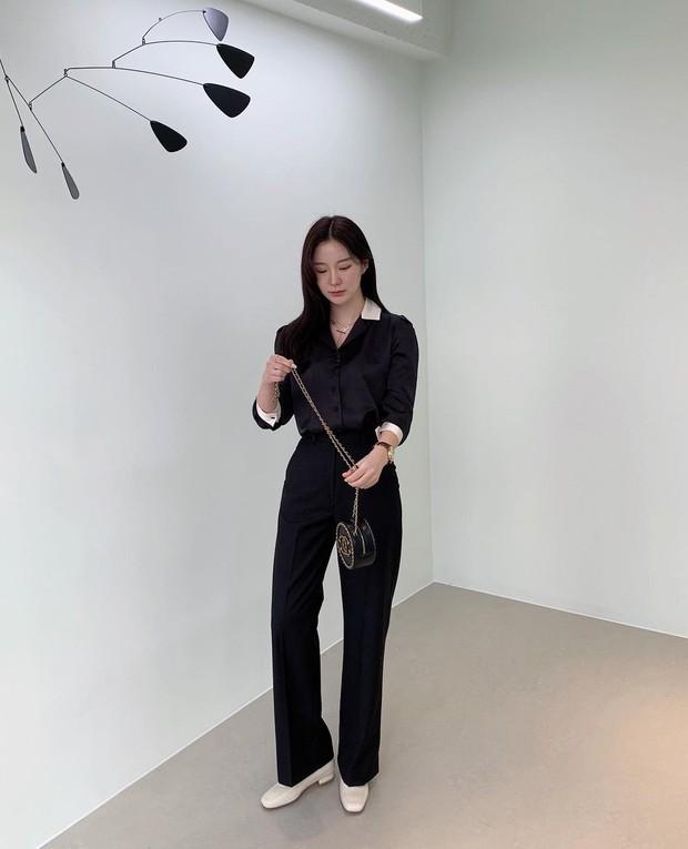 Gái Hàn có 8 cách mix đồ với quần đen, mỗi ngày diện một kiểu đảm bảo không sợ mang tiếng nhạt nhẽo! - Ảnh 2.