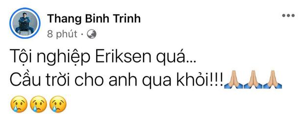 Diệu Nhi bật khóc, Trịnh Thăng Bình và dàn sao Việt cầu nguyện cho cầu thủ Erikse tuyển Đan Mạch đột quỵ trên sân đấu Euro - Ảnh 6.