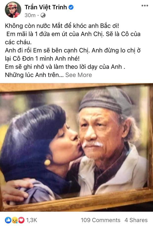 Diễn viên Việt Trinh khóc hết nước mắt, chia sẻ về dự định cuối cùng của đạo diễn Lê Cung Bắc vài ngày trước khi mất - Ảnh 2.