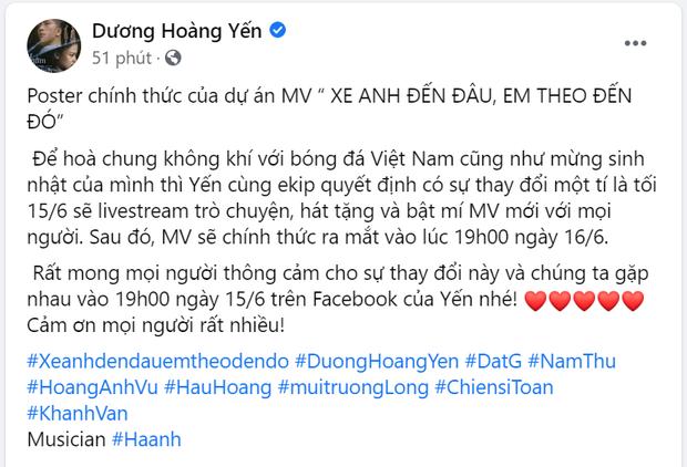 Nam Thư đúng là trưởng nhóm ship Hậu Hoàng - Mũi Trưởng Long rồi, chèo thuyền ngay trên poster MV của Dương Hoàng Yến - Ảnh 6.