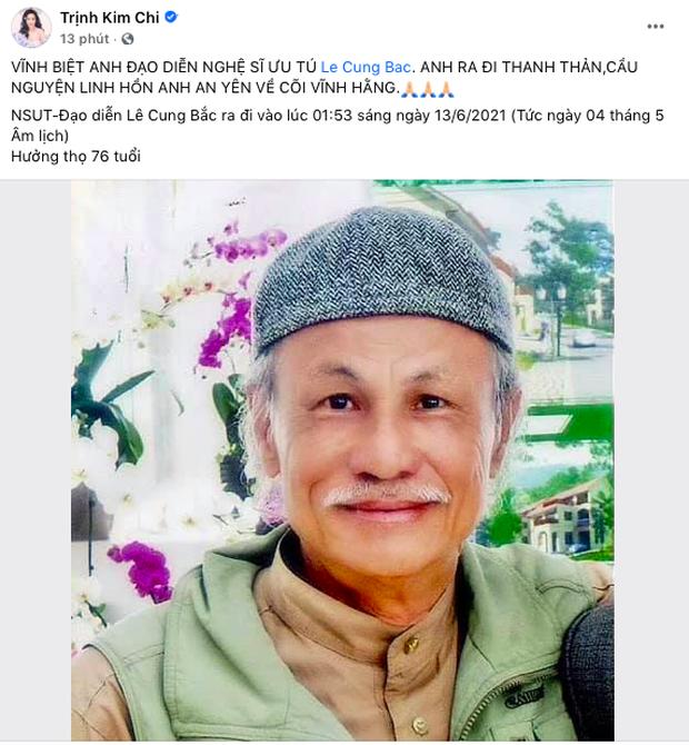 Đạo diễn phim Người Đẹp Tây Đô đột ngột qua đời, Thu Minh - Trịnh Kim Chi cùng dàn sao Vbiz xót xa nói lời tiễn biệt - Ảnh 5.