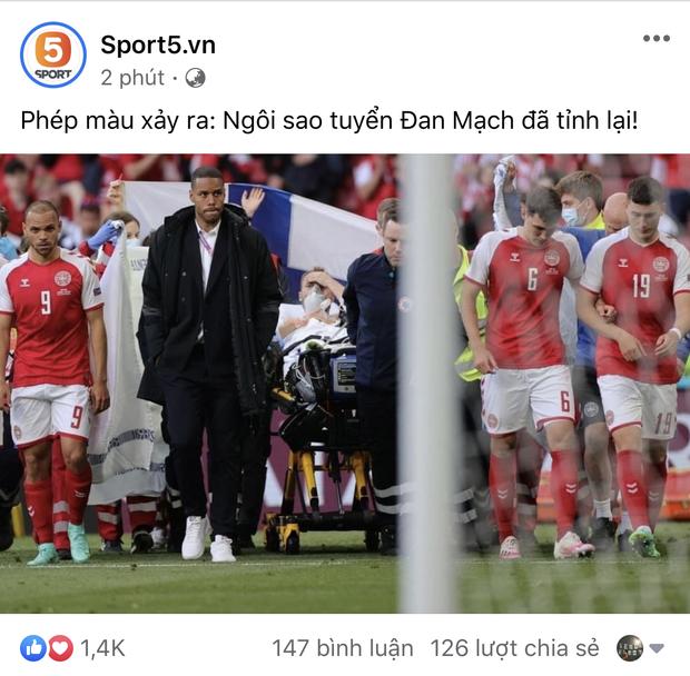 Dân mạng Việt đi từ bàng hoàng đến vỡ oà khi chứng kiến cầu thủ số 1 Đan Mạch đột quỵ ngay trên sân đấu Euro - Ảnh 2.