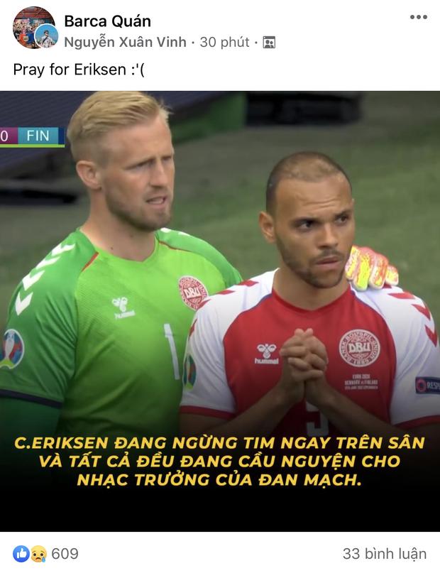 Dân mạng Việt đi từ bàng hoàng đến vỡ oà khi chứng kiến cầu thủ số 1 Đan Mạch đột quỵ ngay trên sân đấu Euro - Ảnh 13.