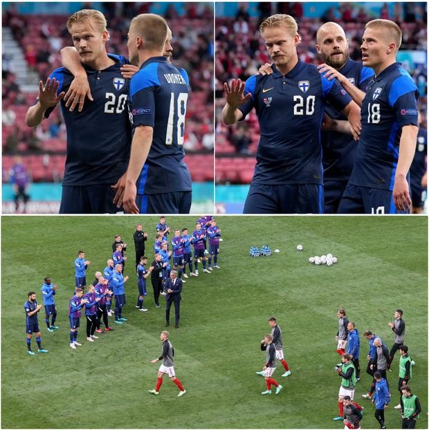 Lá Quốc kỳ Phần Lan che cho Eriksen và những hình ảnh khiến cả thế giới quặn thắt con tim - Ảnh 12.