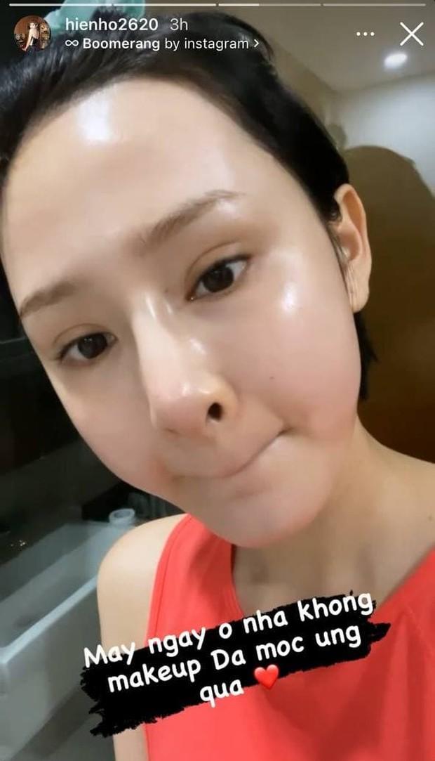 Sao Việt để mặt mộc: Hiền Hồ gây sốt với glass skin căng bóng, Á hậu Kiều Loan giữ ngôi chăm khoe da nhất - Ảnh 2.