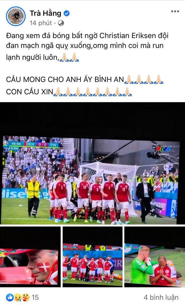 Diệu Nhi bật khóc, Trịnh Thăng Bình và dàn sao Việt cầu nguyện cho cầu thủ Erikse tuyển Đan Mạch đột quỵ trên sân đấu Euro - Ảnh 14.