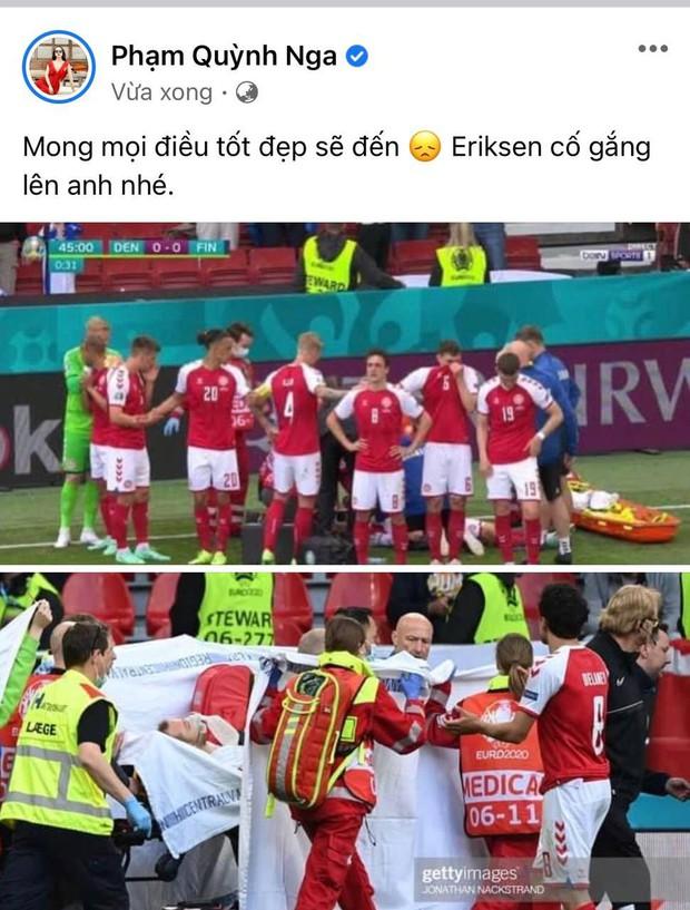Diệu Nhi bật khóc, Trịnh Thăng Bình và dàn sao Việt cầu nguyện cho cầu thủ Erikse tuyển Đan Mạch đột quỵ trên sân đấu Euro - Ảnh 7.