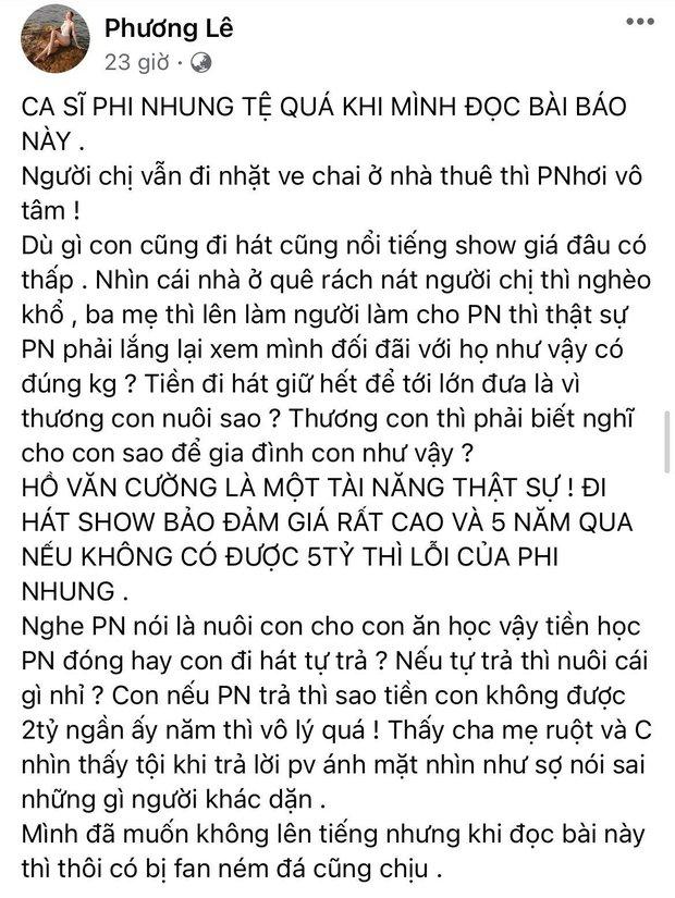 Hoa hậu ở nhà 200 tỷ tố thẳng Phi Nhung lấp liếm tiền bạc, tiết lộ giá cát xê gây choáng của Hồ Văn Cường - Ảnh 3.