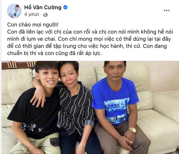 Netizen phản ứng khi Hồ Văn Cường giải thích mọi việc, phủ nhận chị gái lượm ve chai: Sao cứ bắt thằng nhỏ phân bua hoài vậy? - Ảnh 2.