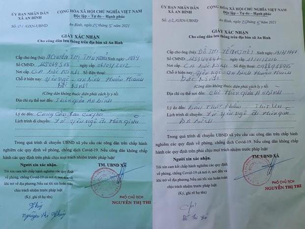 Tạm đình chỉ công tác Chủ tịch UBND xã ký giấy cho người dân đi chợ trong vùng dịch - Ảnh 2.