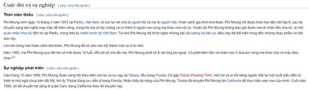 Giữa ồn ào, nghệ danh của Phi Nhung bị antifan đổi trên Wikipedia: Từ Phi Phi cô nương, Phi lụa và nhiều tên khác - Ảnh 3.