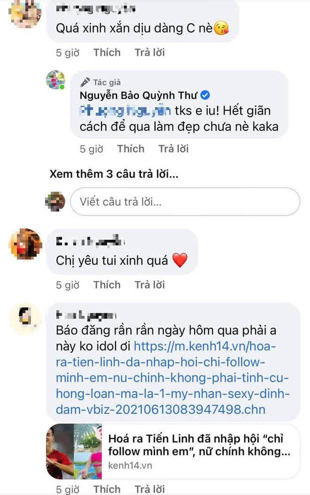 Tiến Linh và Quỳnh Thư thi nhau rắc thính hậu lộ hint tình ái, đàng gái còn có động thái đáng nghi quá đây này! - Ảnh 4.
