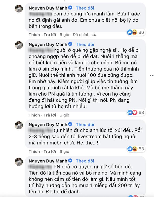 Duy Mạnh bất ngờ tố bị 1 nữ ca sĩ gài bẫy và xúi đểu, thẳng thắn bóc mẽ vụ cát xê, netizen liền réo gọi Phi Nhung - Ảnh 3.