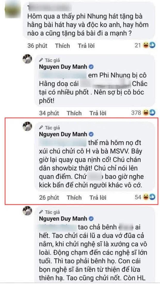 Duy Mạnh bất ngờ tố bị 1 nữ ca sĩ gài bẫy và xúi đểu, thẳng thắn bóc mẽ vụ cát xê, netizen liền réo gọi Phi Nhung - Ảnh 6.