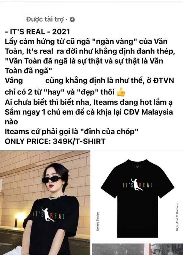 Chủ tịch Văn Toàn bị làm giả áo in hình cú ngã thần thánh, hàng pha ke hét giá còn cao hơn cả đồ thật - Ảnh 5.