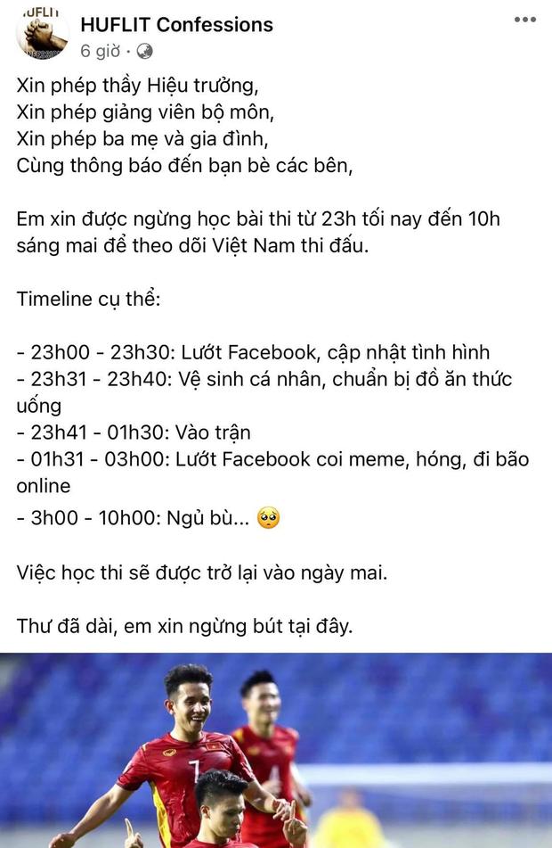 Tâm thư học sinh năn nỉ thầy cô trước trận thư hùng của đội tuyển Việt Nam gây sốt vì quá độc đáo và lầy lội - Ảnh 1.