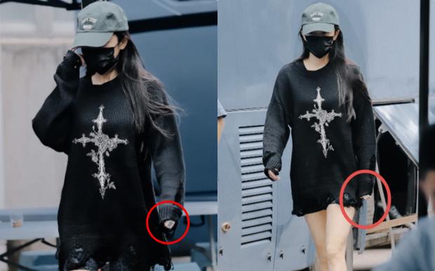 Dương Mịch sải bước ở phim trường nhưng bị đồ vật trên tay làm lộ dấu hiệu bất ổn, con gái Tiểu Gạo Nếp cũng bị réo tên - Ảnh 3.