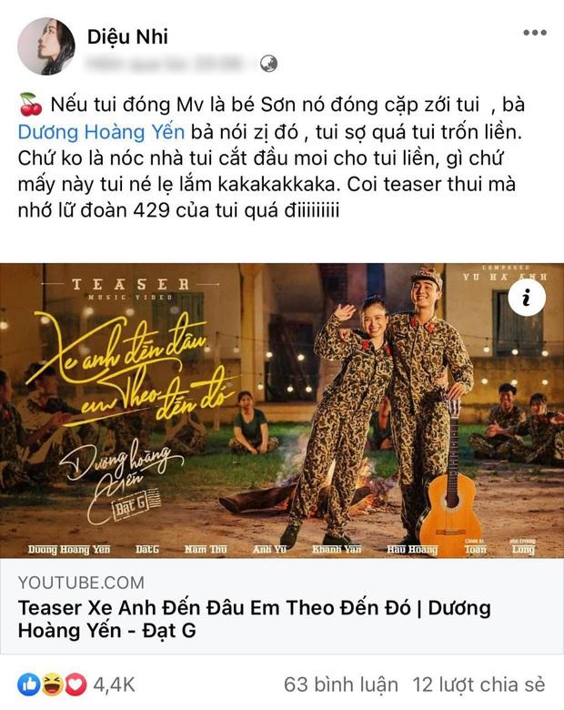 Diệu Nhi sợ nóc nhà nên không cùng dàn Sao Nhập Ngũ đóng MV mới của Dương Hoàng Yến - Ảnh 3.