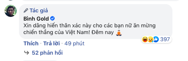 Một nam rapper tuyên bố dâng hiến thân xác cho phái nữ nếu Việt Nam thắng nhưng rất tiếc anh không được toại nguyện - Ảnh 2.